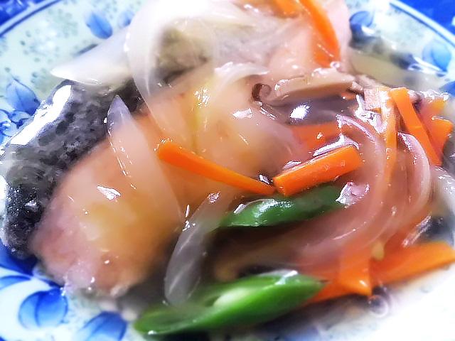 ひつじ雲の献立(2015.9.24):魚の野菜あんかけ
