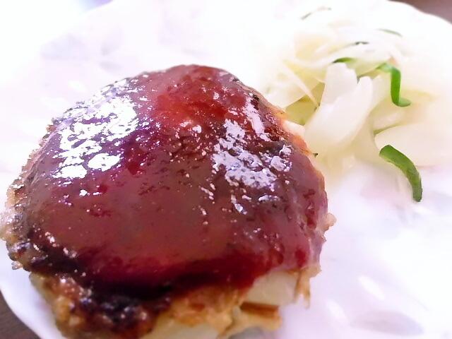 ひつじ雲の介護食(2015.10.06):ポテトハンバーグ