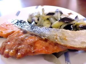 ひつじ雲の介護食(2015.10.07):鮭の胡麻味噌焼き