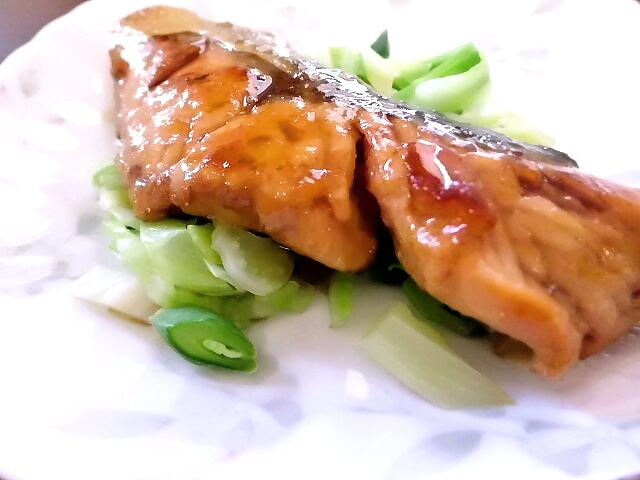 ひつじ雲の介護食(2015.10.25):魚の照り焼き