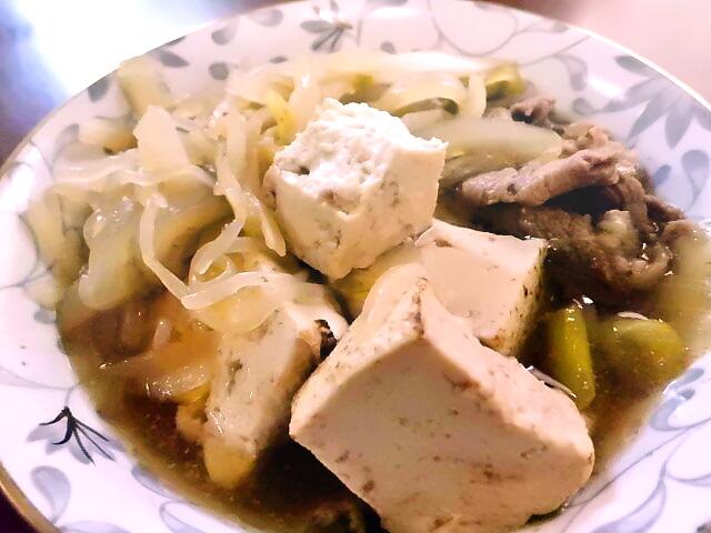 ひつじ雲の介護食(2015.11.15):すき焼き風煮