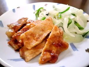 ひつじ雲の介護食(2015.12.23):鶏肉バーベキュー焼き