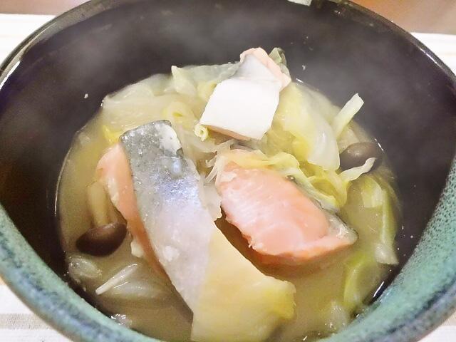ひつじ雲の介護食(2016.1.14):石狩鍋