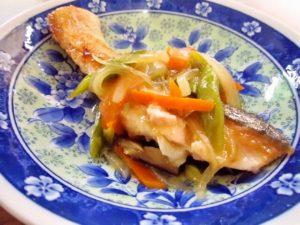 2017年9月24日の献立 ひつじ雲の献立:魚の野菜あんかけ